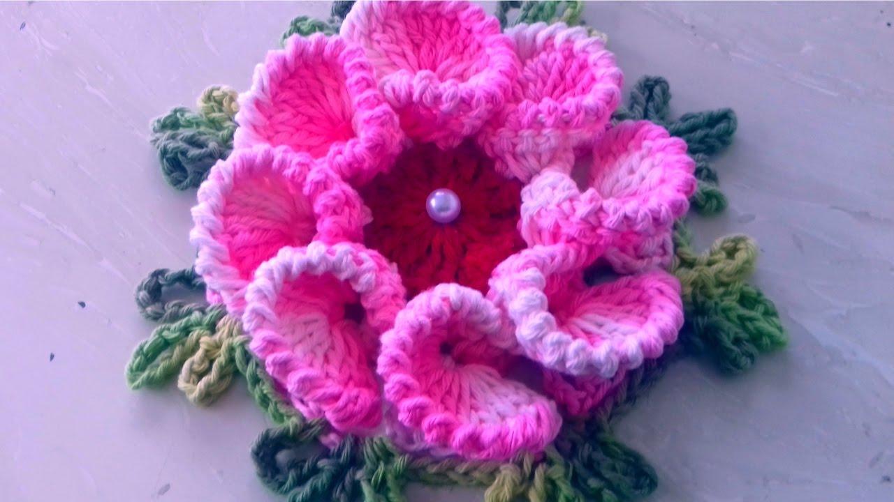 Vamos Aprender Esta Linda Flor Em Crochê Passo A Passo Com Cristina