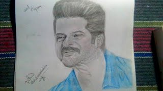 Drawing anil kapoor ✍✍✍✍✍😆😆