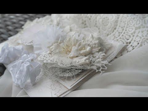Конверт для денег Белый шебби шик - Скрапбукинг мастер-класс / Aida Handmade