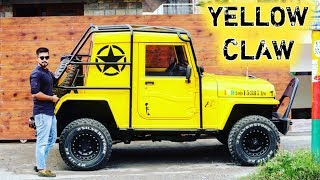 Mahindra Thar Customized into Offroad monster ( YELLOW CLAW)   2 seater   Roll cage