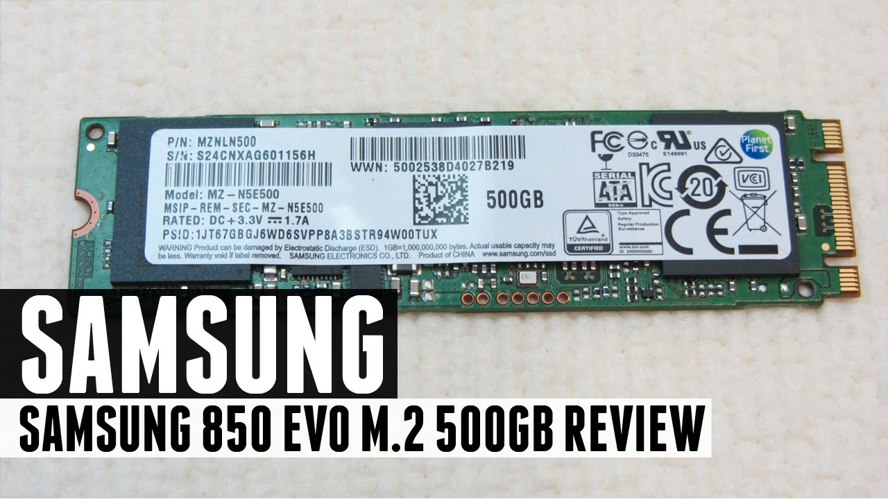 Ssd Samsung 850 Evo M2 500gb Review Youtube 250gb