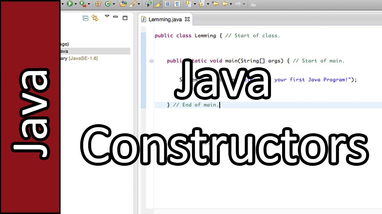 Constructors java programming tutorial 17 pc mac 2015 youtube constructors java programming tutorial 17 pc mac 2015 baditri Image collections