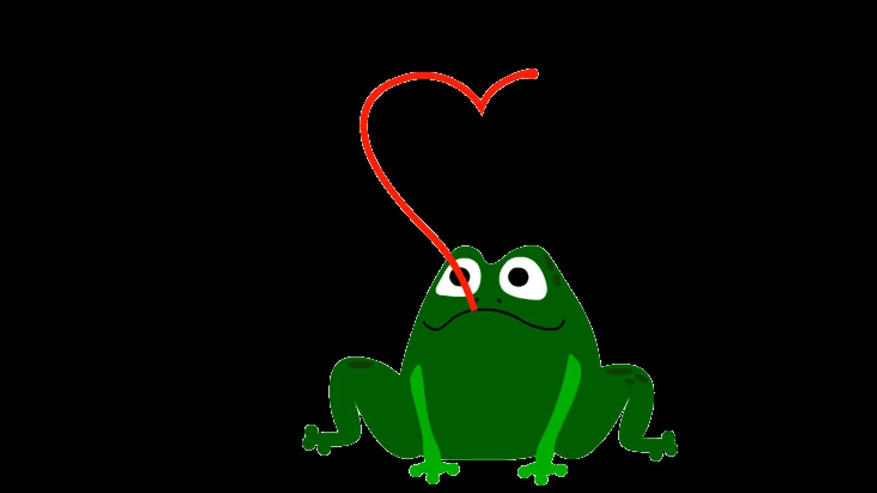 Frog jump animated picture video - YouTube