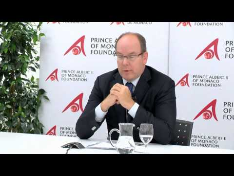 HSH Prince Albert II of Monaco Interview - BioMarine Halifax 2013