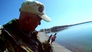 Фидерная ловля плотвы ранней весной на водохранилище. Дамба.