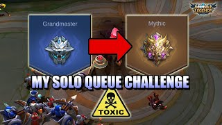 I SOLO QUEUED FROM GRANDMASTER TO MYTHIC CHALLENGE AND LEARNED A NEW HERO - MLBB