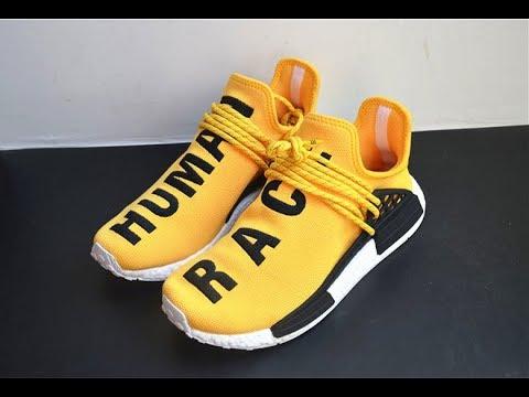 "super popular 422a6 0935d PHARRELL X ADIDAS HU NMD ""HUMAN RACE"" YELLOW from www.goodsneaker.club"
