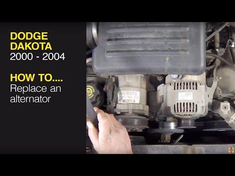 How to replace the alternator on a Dodge Dakota (2000 – 2004) / Dodge Durango (2000 – 2003)