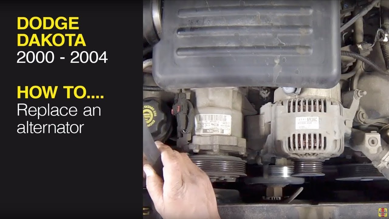 [EQHS_1162]  How to replace the alternator on a Dodge Dakota (2000 - 2004) / Dodge  Durango (2000 - 2003) - YouTube | Dodge Durango Alternator Wiring Diagram |  | YouTube