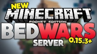 NEW BEDWARS SERVER for MCPE 0.15.3+ - Lifeboat Egg Wars Minigame - Minecraft PE (Pocket Edition)