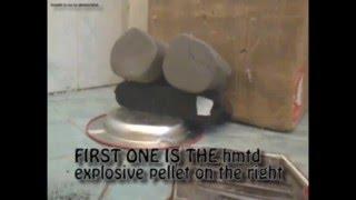 NEVER SEEN ON YOUTUBE: Homemade HE (HMTD) .177 cal pellet in block of clay
