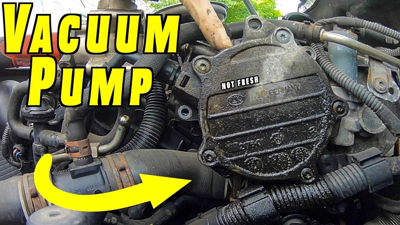 How To Replace or Reseal Brake Vacuum Pump  YouTube