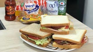 Сендвич с Колбасой и Помидором . Супер Вкусный . Как приготовить Сэндвич .
