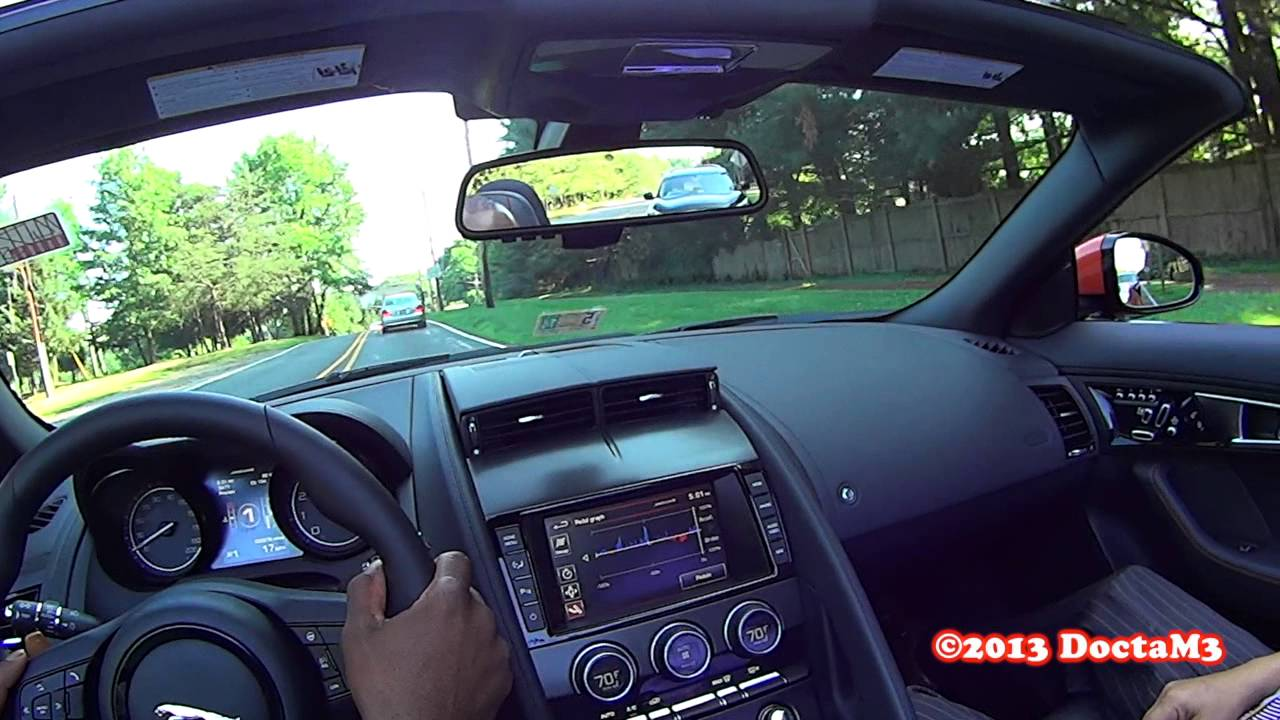 pov jaguar f type v8s on board in car features review youtube. Black Bedroom Furniture Sets. Home Design Ideas