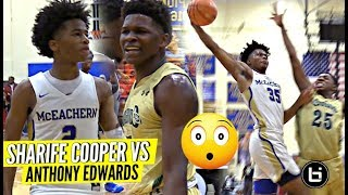 """THIS IS MY CITY"" Sharife Cooper vs Anthony Edwards CRAZY HYPE BATTLE!! McEachern vs Holy Spirit"