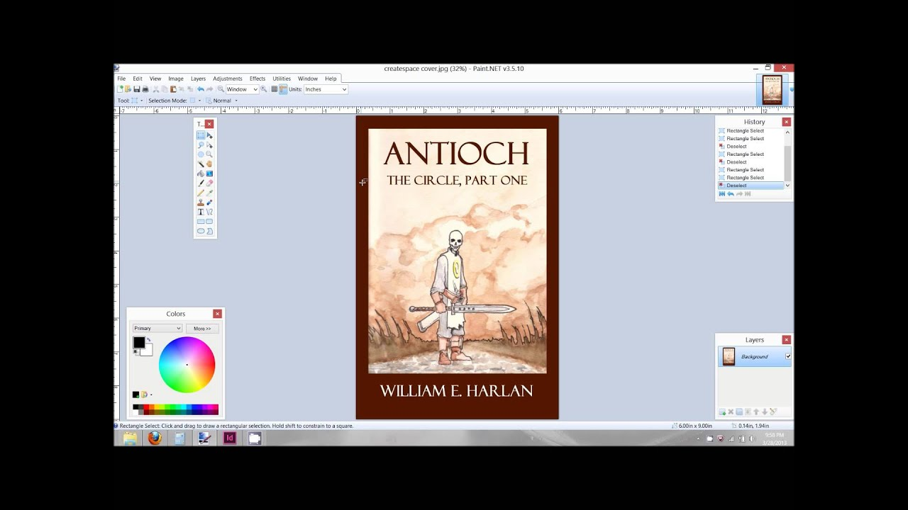 How To Create A Book Cover Design ~ Creating a book cover for createspace using adobe indesign youtube