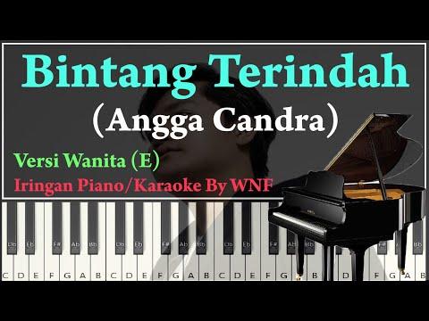 Angga Candra - Bintang Terindah Piano Cover Karaoke Versi Wanita
