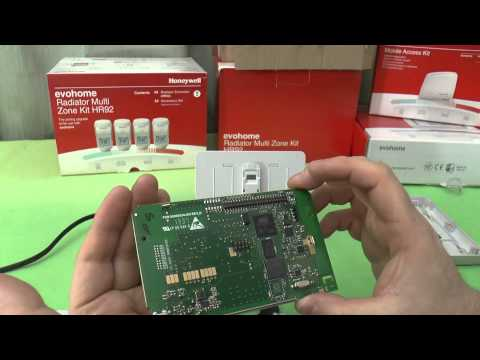 Honeywell Evohome wireless thermostat system unboxing, configuration and mini-teardown