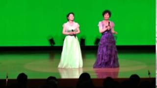 レイカシスターズが歌う「おお牧場はみどり」in サンシャインコンサート...