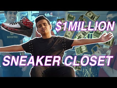 Money Kicks' 1 MILLION DOLLAR SNEAKER CLOSET | Rashed Belhasa Closet Tour | MainstreetTv