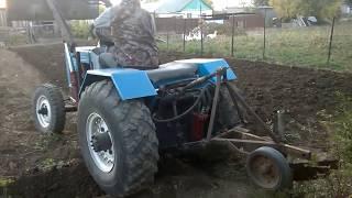 Самодельный минитрактор 4х4. Пашем.Homemade tractor 4Х4