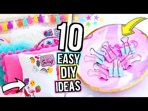 ROOM DECOR DIY 2018! 10 DIY Bedroom Decorating Ideas for Teenagers!