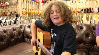 "10-year-old Elie Samouhi singing Tom Petty ""Runnin' Down A Dream"" - Martin 000C-16GTE"