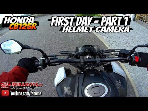 Honda CB125R Neo Sports Café - First Day Part #1 (Helmet Camera)