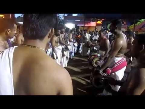 Thrippunithura Panchavadyam - 2nd Kaalam Idakka Thaalavattam + Koottikottu