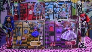 Monster High Deluxe Fashion Packs Robecca Operetta Frankie Ghoulia!!! :)