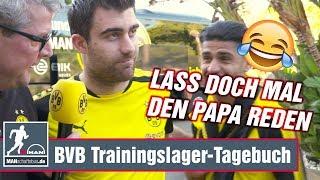 BVB: Papa demonstriert im Interview die gute Laune der Dortmunder