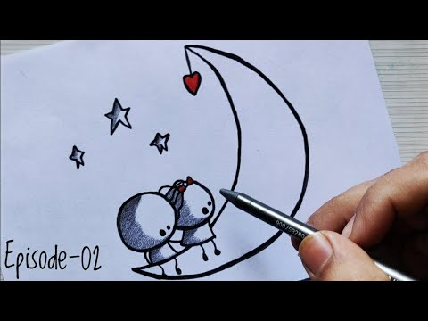 Cute Love Couple Drawing Step By Step For Beginners On Valentine S
