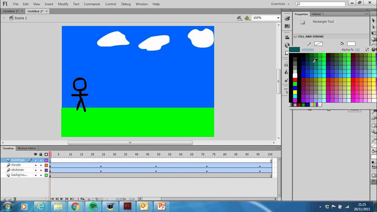 Adding more items into your background Adobe Flash CS6 ...