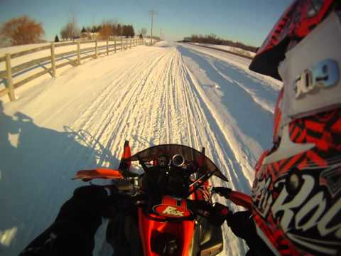 Arctic Cat Crossfire 800 SnoPro and Supercharged Yamaha Phazer Playing Around
