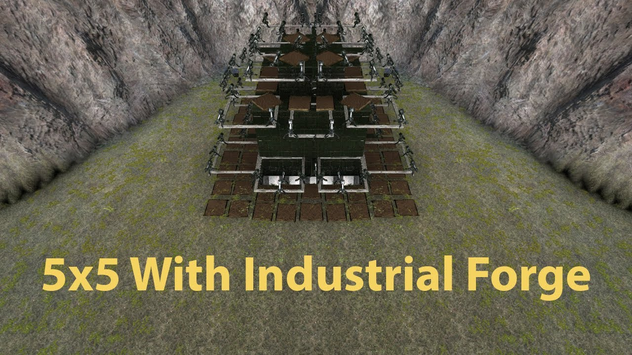 ark builds 5x5 with industrial forge youtube. Black Bedroom Furniture Sets. Home Design Ideas