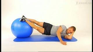Kiropraktorgruppen - Slik utfører du øvelsen sideliggende bekkenhev med ball.