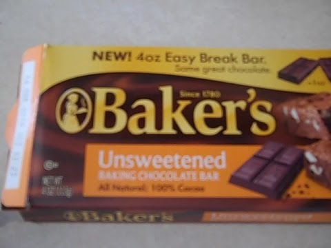 Baker's Chocolate Easy Break Bar - How Easy Is It, Really?