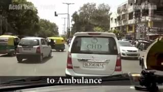 Response to the emergency vehicles in India vs foreign  places...