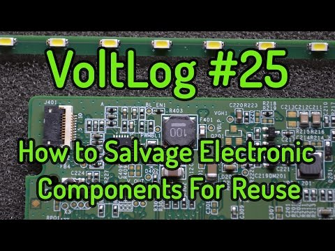 VoltLog #25 - How to Salvage Electronic Components For Reuse