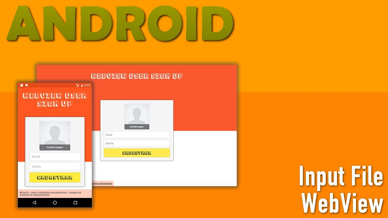 Input File no WebView Android