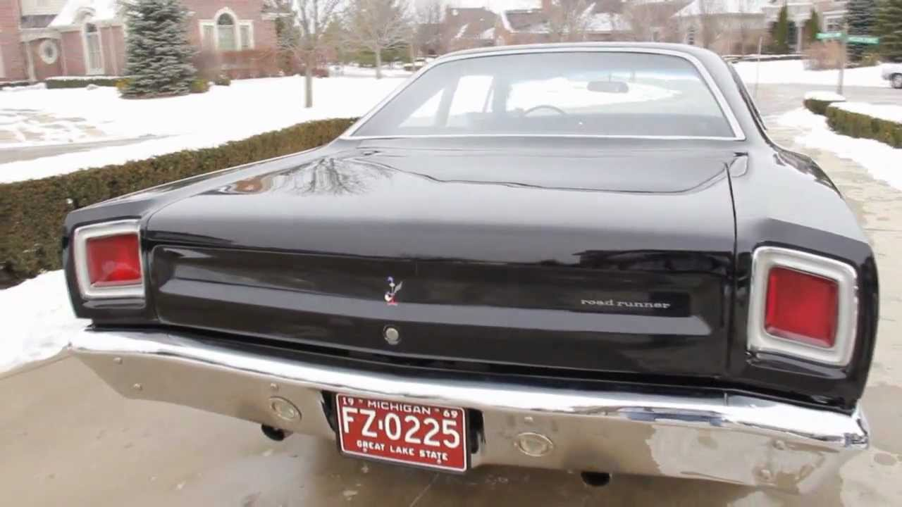 1969 Roadrunner Tail Lights Wiring Diagram Electricity Plymouth Road Runner Classic Muscle Car For Sale In Mi Vanguard Rh Youtube Com 64 Mustang Light Gmc