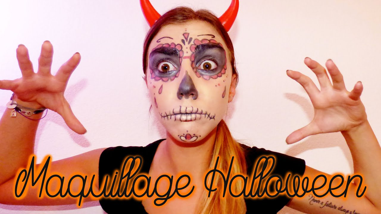Maquillage tte de mort mexicaine facile cool maquillage halloween plus de pour le visage et les - Maquillage mexicain facile ...