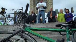 Pedal for the Planet hits Parliament HIll Thumbnail