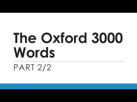 The Oxford 3000 Words Part 2/2 | English Words With Usage Examples