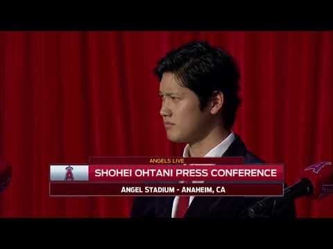 The Los Angeles Angels introduce Shohei Ohtani