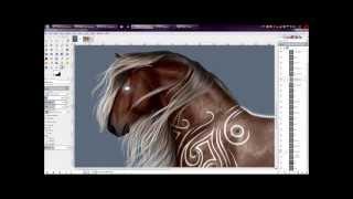 SpeedPaint: Fantasy Silver Roan Bay Thumbnail