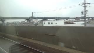 近鉄30000系新塗装 モ30210 名阪特急近鉄名古屋⇒大阪難波間の車窓