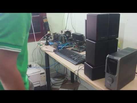 Cách lắp hệ thống loa 5.1 cho máy tính - PC