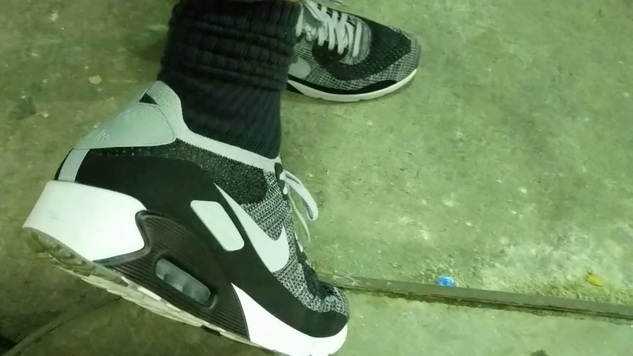 746e6d2a7b1 Pumping Gas Wearing Hot Nike Air Max 90 Flyknit Running Shoes. - YouTube
