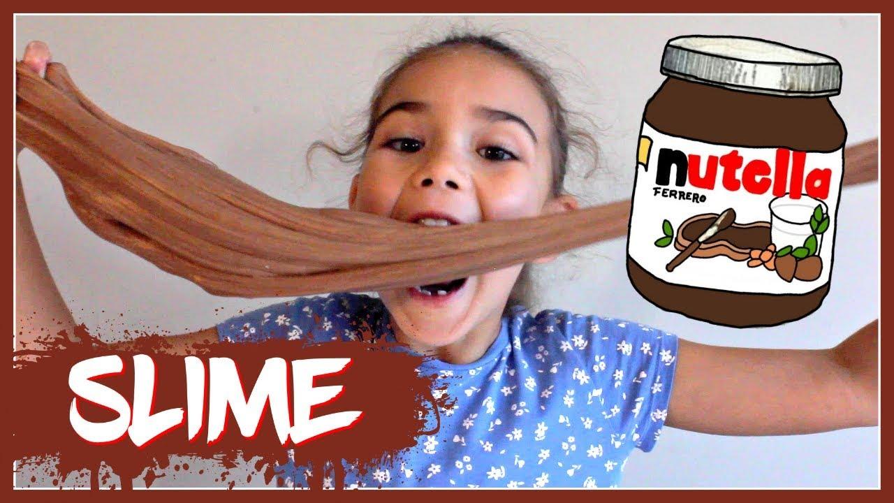 How to make Nutella Slime (DIY Edible Slime!!)